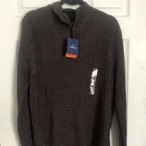 Croft & Barrow Sweater Chunky buttons size M NWT